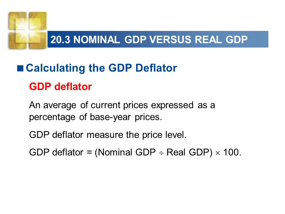 calculating year on year growth of gdp However, gdp as measured by current prices does not measure the growth of real gdp, since prices depend on the money supply, which varies independently of gdp from year to year nominal gdp is the gdp measured by actual prices, which are unadjusted for inflation.