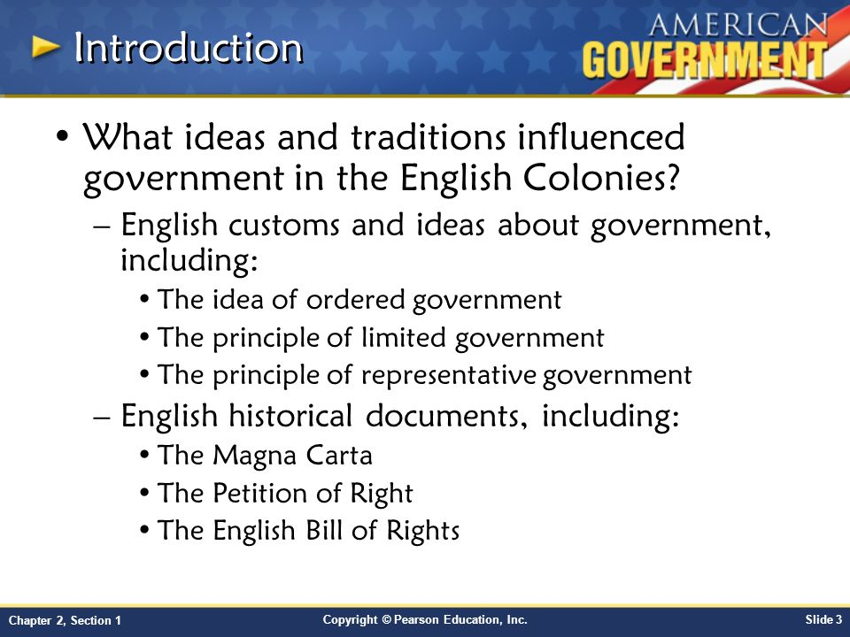 the ideas that form the basis of the american governmental tradition Forms of government  in the presidential form of government,  it has a set of ideas that everyone is expected to embrace,.