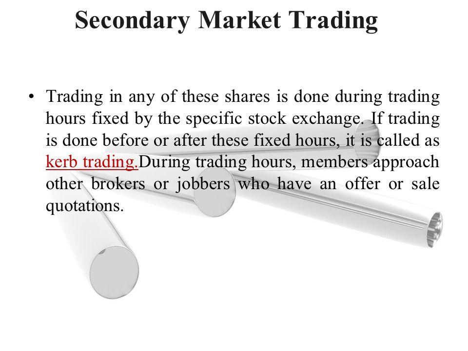 Stock options secondary market