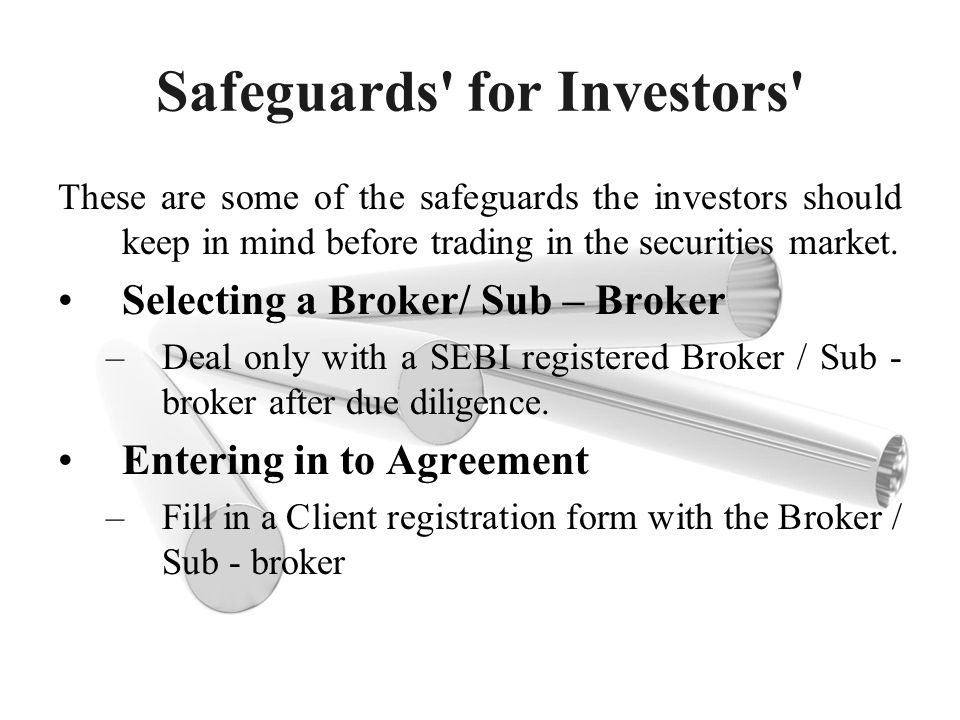 Safeguards for Investors