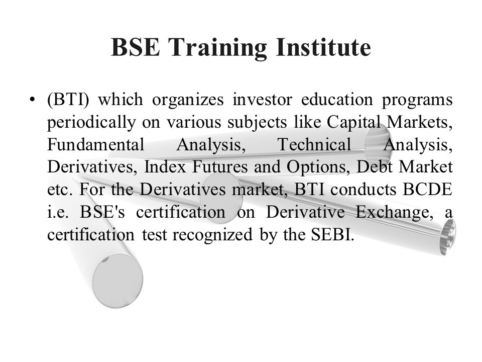 BSE Training Institute