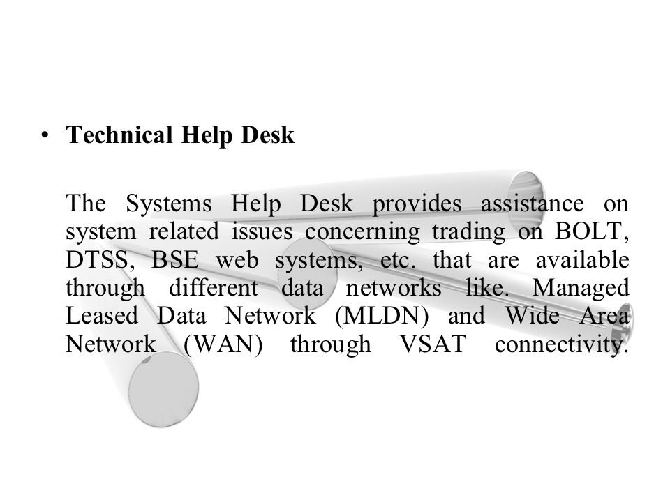 Technical Help Desk