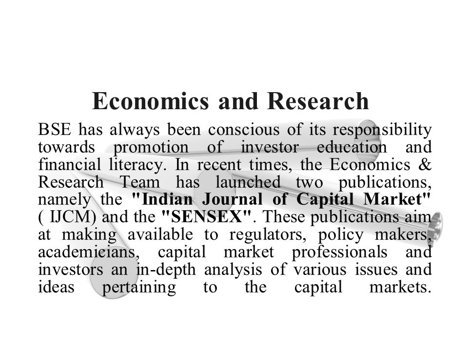 Economics and Research