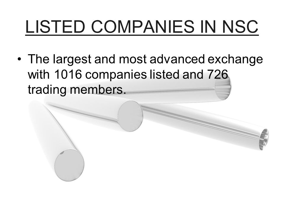 LISTED COMPANIES IN NSC