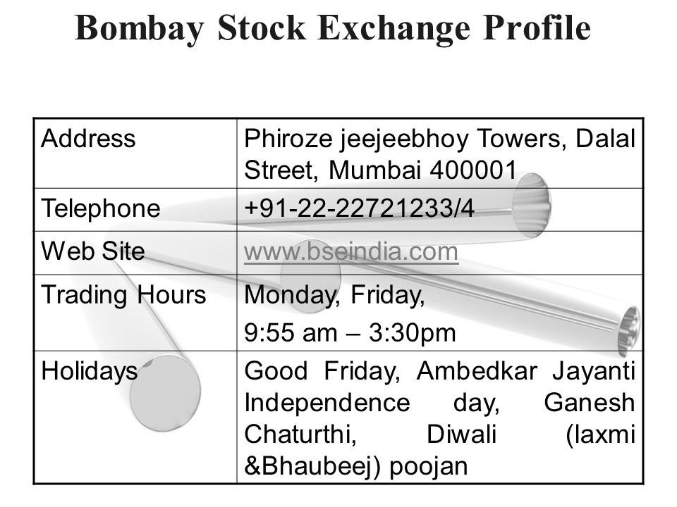 Bombay Stock Exchange Profile