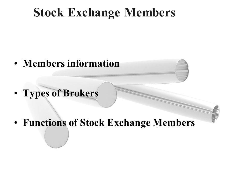 Stock Exchange Members