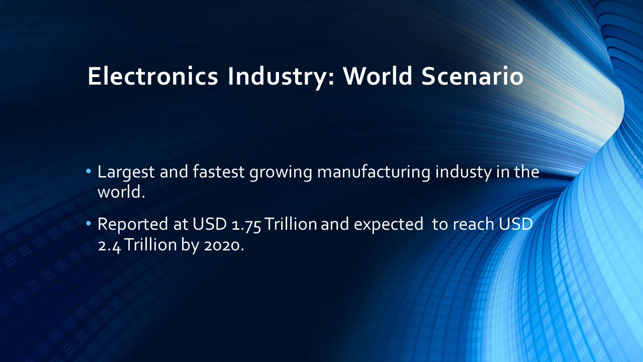 Electronics Industry: World Scenario