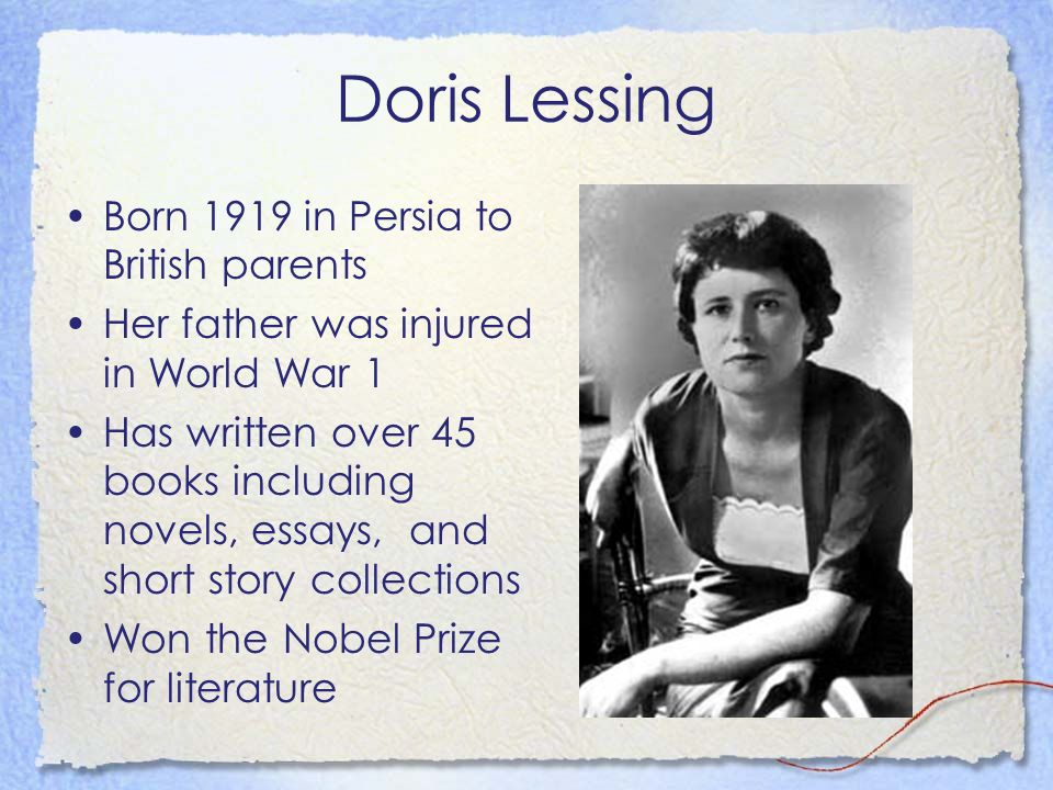 critical essays on doris lessing Tiger, critical essays on doris lessing, 183–91 draine, betsy putting the questions differently: interviews with doris less-ing, 1964–1994 london.