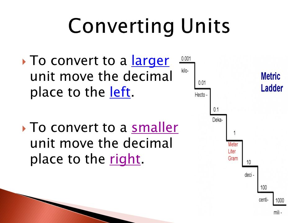 Metric system si units ppt video online download for Places to move to