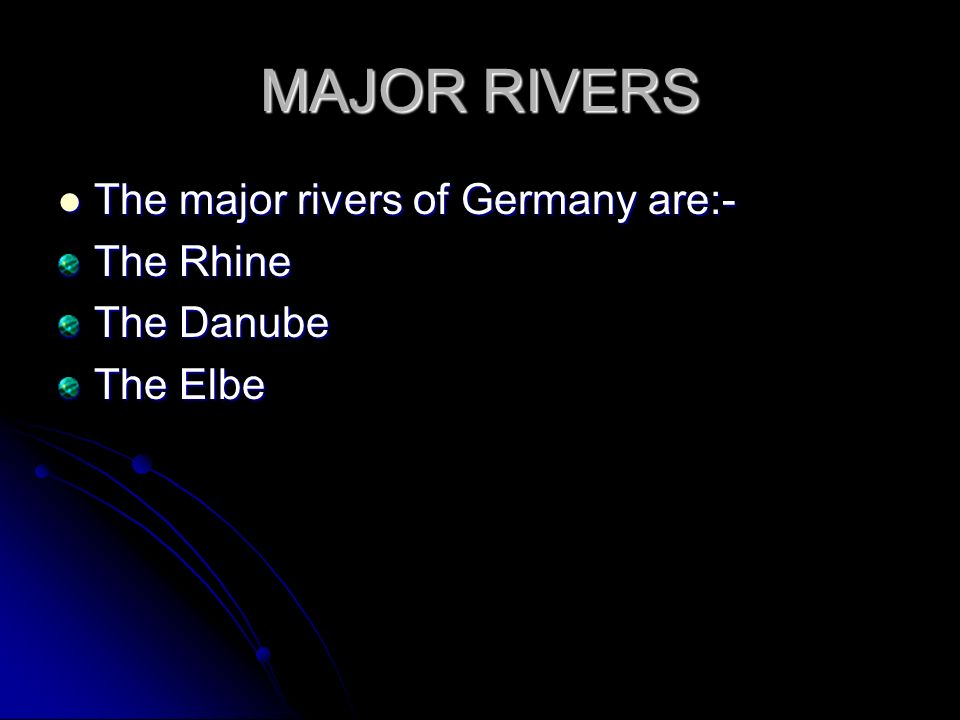 RIVERS OF GERMANY Ppt Video Online Download - 2 major rivers