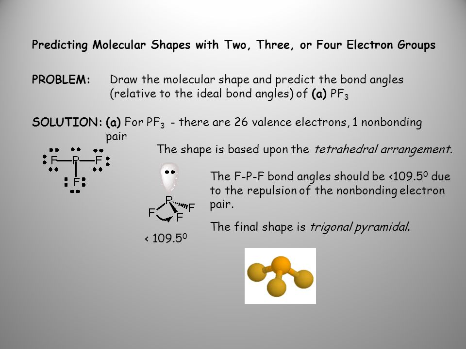 Predicting Molecular Shapes with Two, Three, or Four Electron Groups