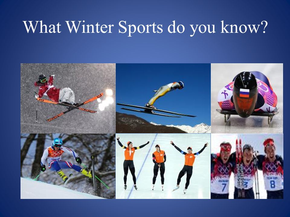What Winter Sports do you know