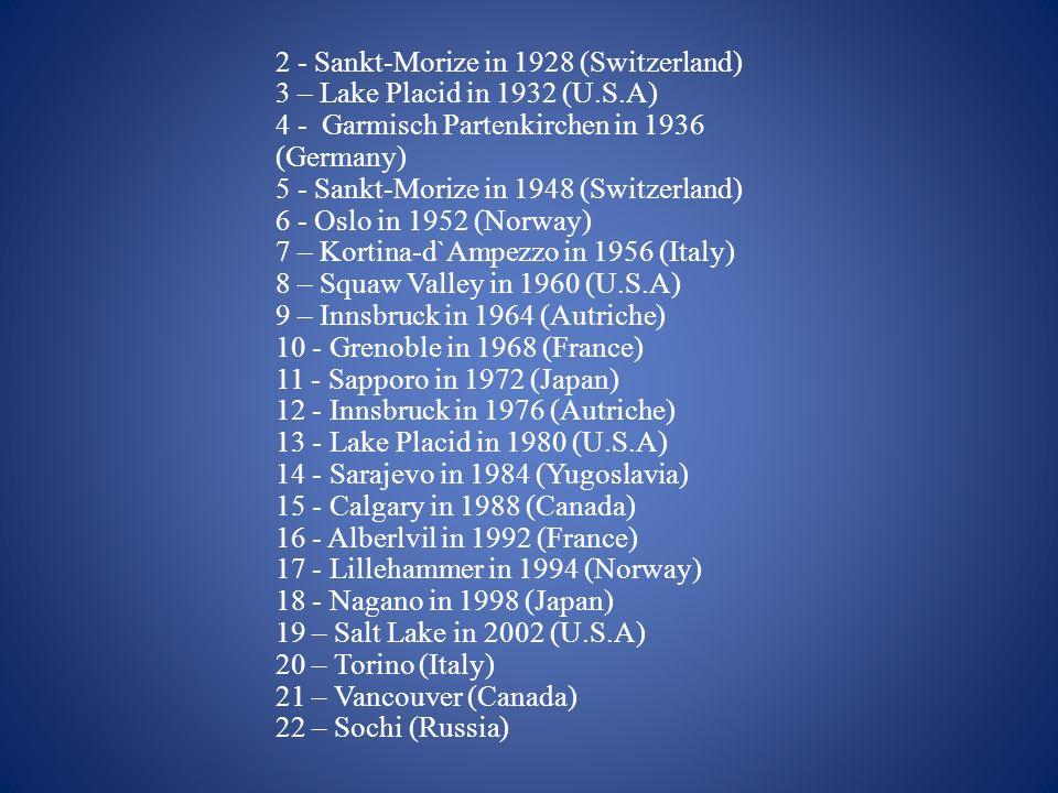 2 - Sankt-Morize in 1928 (Switzerland)