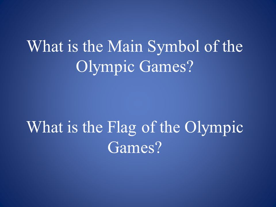What is the Main Symbol of the Olympic Games
