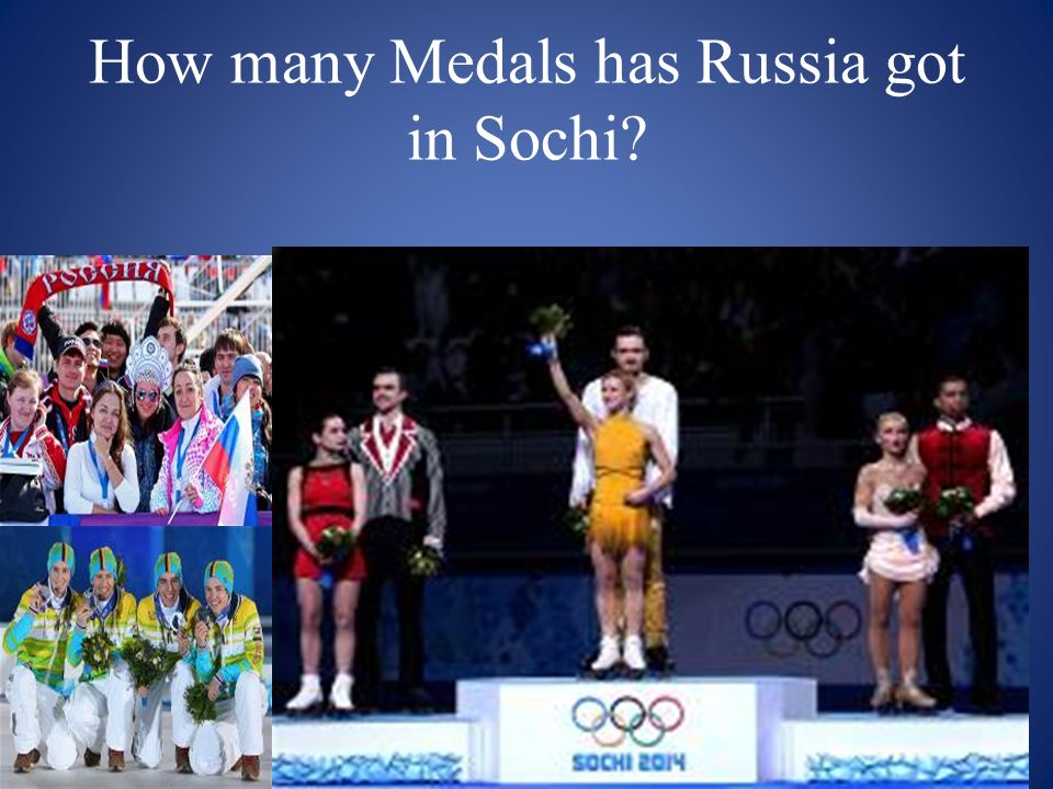 How many Medals has Russia got in Sochi