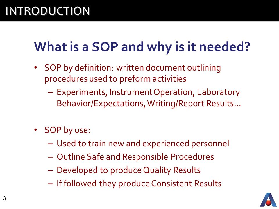 Standard Operating Procedures  Ppt Video Online Download
