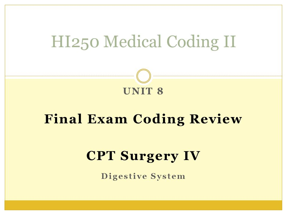 fina exam medical coding 1