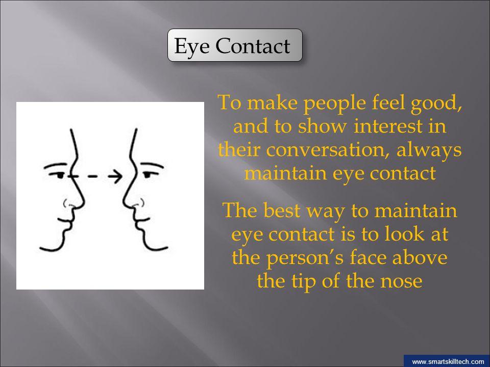 how to make good eye contact