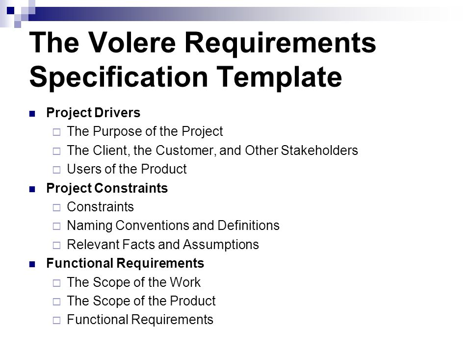 Writing the requirements ppt video online download for Volere template free download