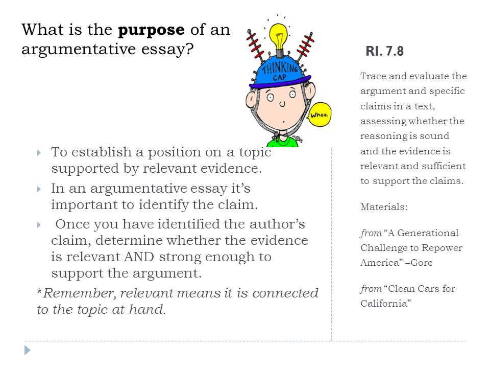 Explain the purpose of a thesis statement in an academic essay.