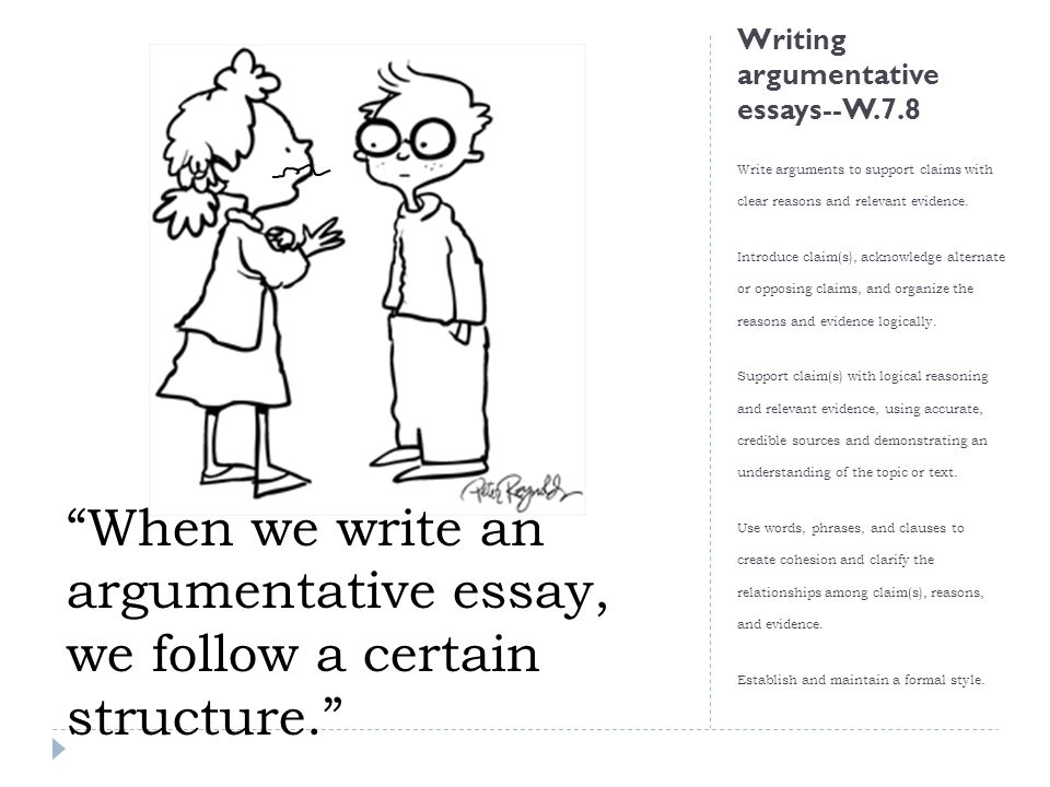 argumentative evaluation and writing ppt video online  6 writing argumentative