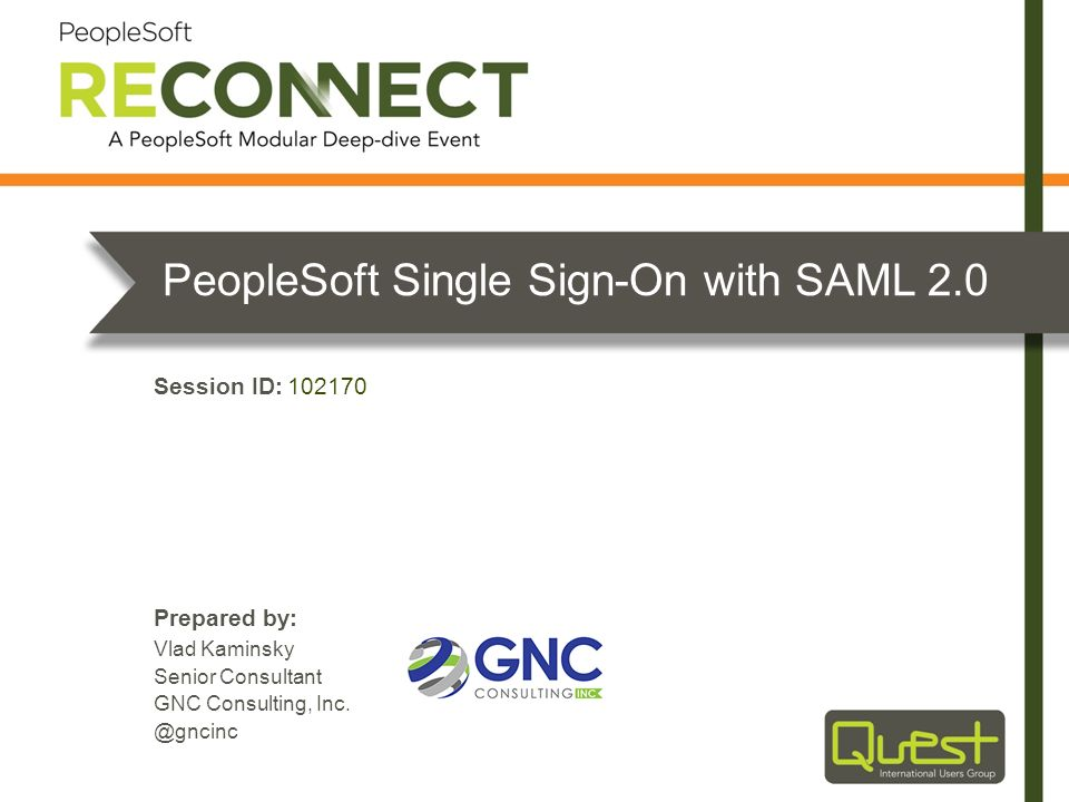 PeopleSoft Single Sign-On with SAML 2.0
