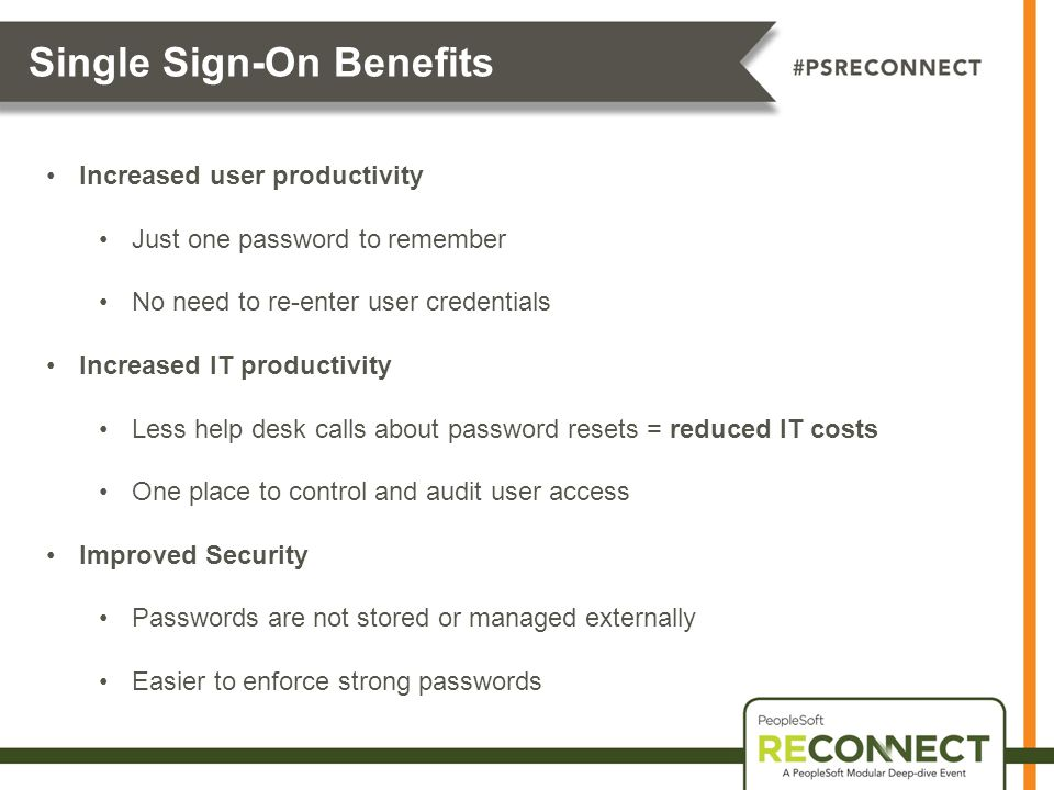 Single Sign-On Benefits