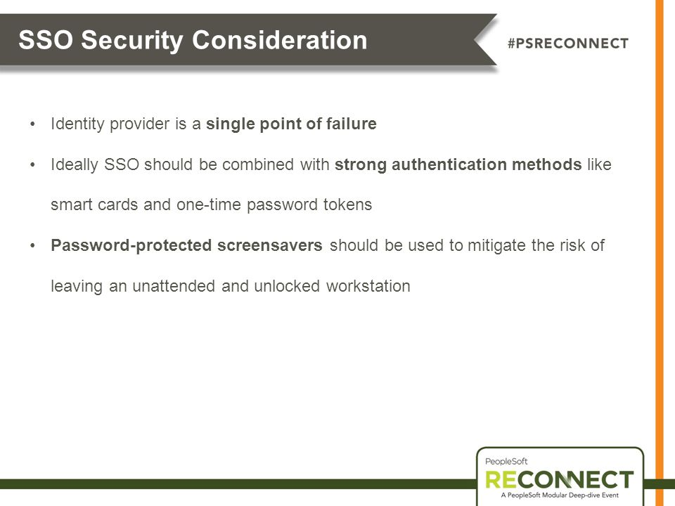 SSO Security Consideration