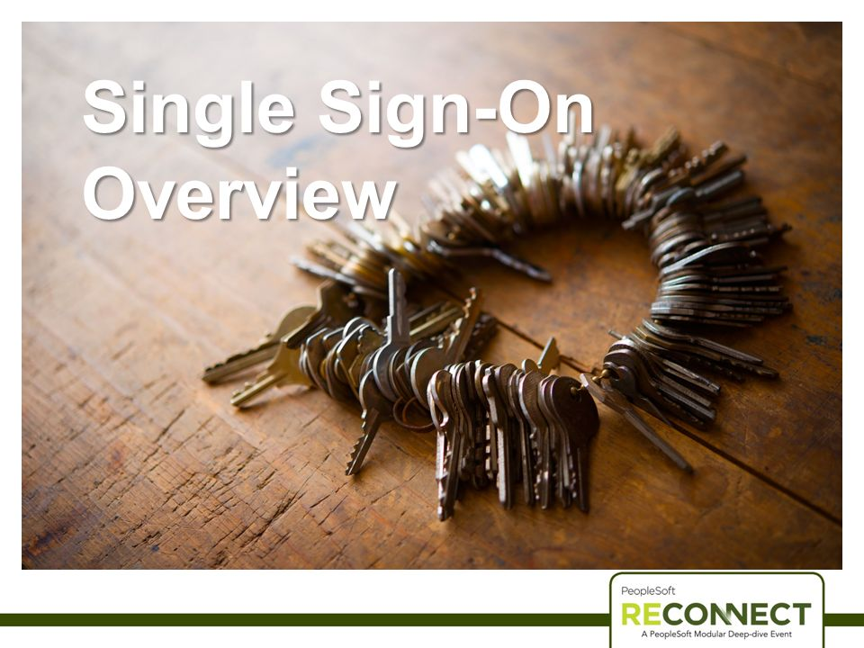 Single Sign-On Overview