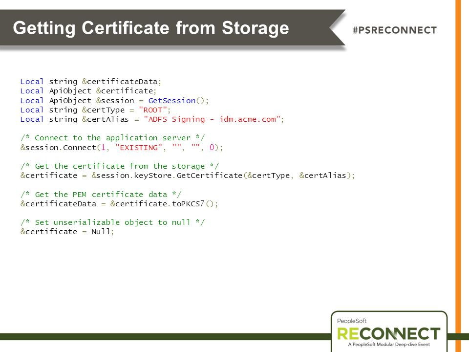 Getting Certificate from Storage
