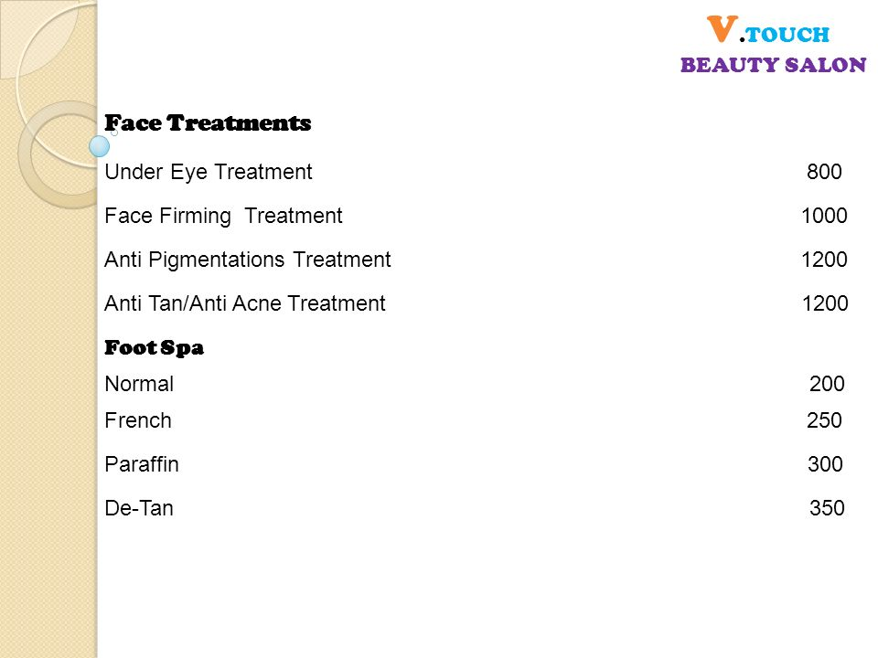 V touch beauty salon spa ppt video online download for A french touch salon