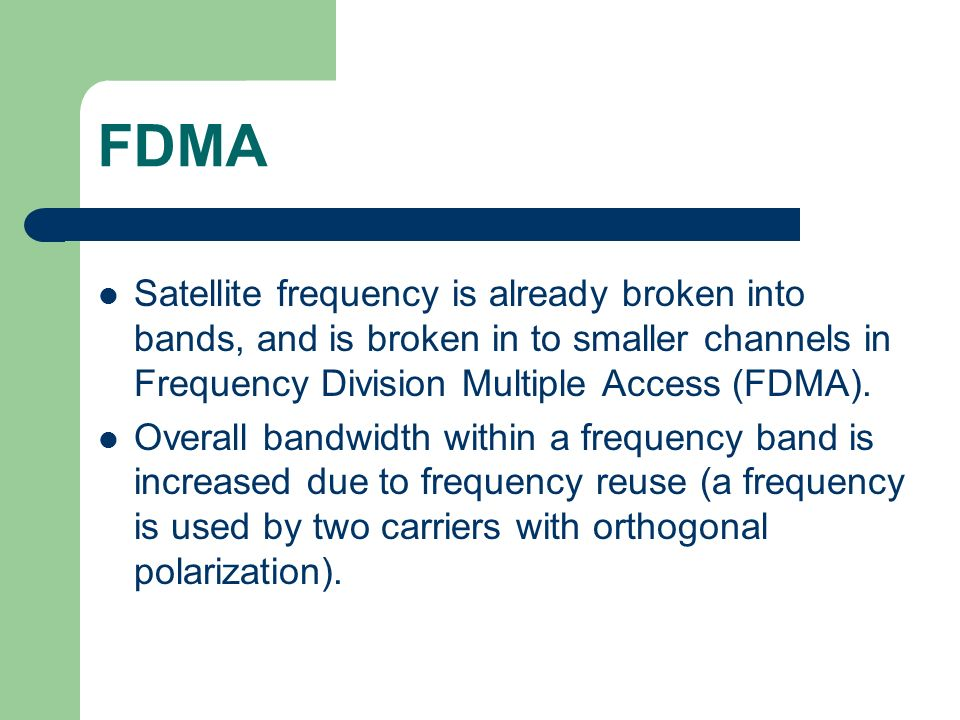 fdma article Fdm vs fdma frequency division multiplexing, or fdm, is a multiplexing technique for the physical layer that allows multiple low bandwidth signals to.