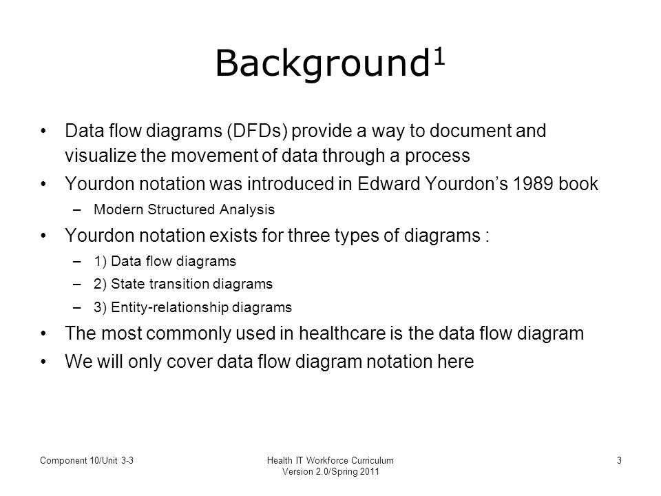3 health it workforce curriculum background1 data flow diagrams - Data Flow Diagram Elements
