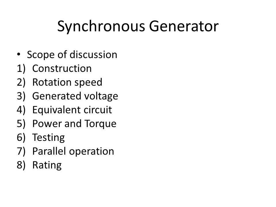 emf equation of synchronous generator ppt