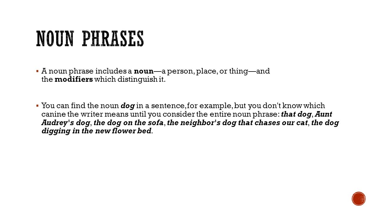 Worksheet Is A Dog A Person Place Or Thing type of phrases ppt download noun a phrase includes person place or thing