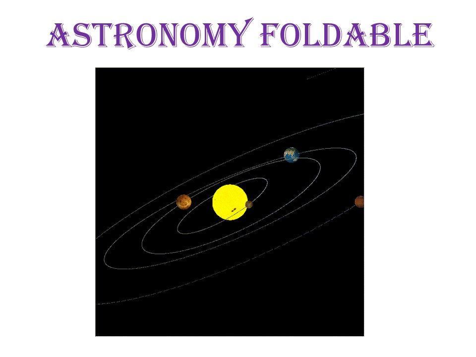 Astronomy foldable. - ppt video online download