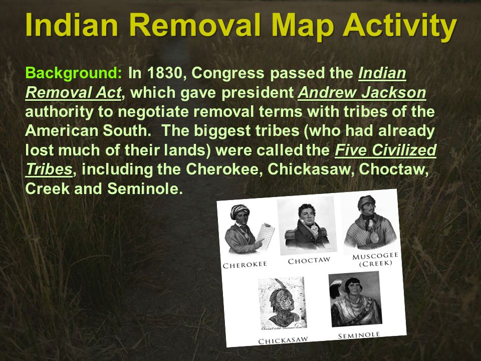 Indian Removal Map Activity Ppt Video Online Download - Indian removal seminoles on map of us