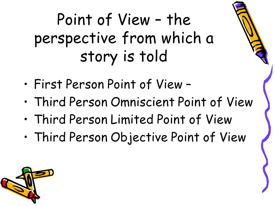 point of view in short stories Definition and a list of examples of point of view point of view is the perspective from which a story is narrated.