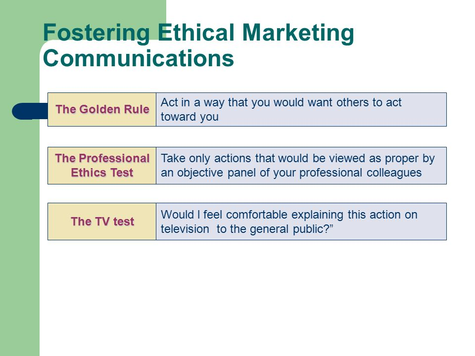 marketing communication ethics The marketing communications degree program at berkeley college is ideal for students who are interested in generating creative solutions to marketing problems through integrated communications introduces the study of ethics and moral philosophy.