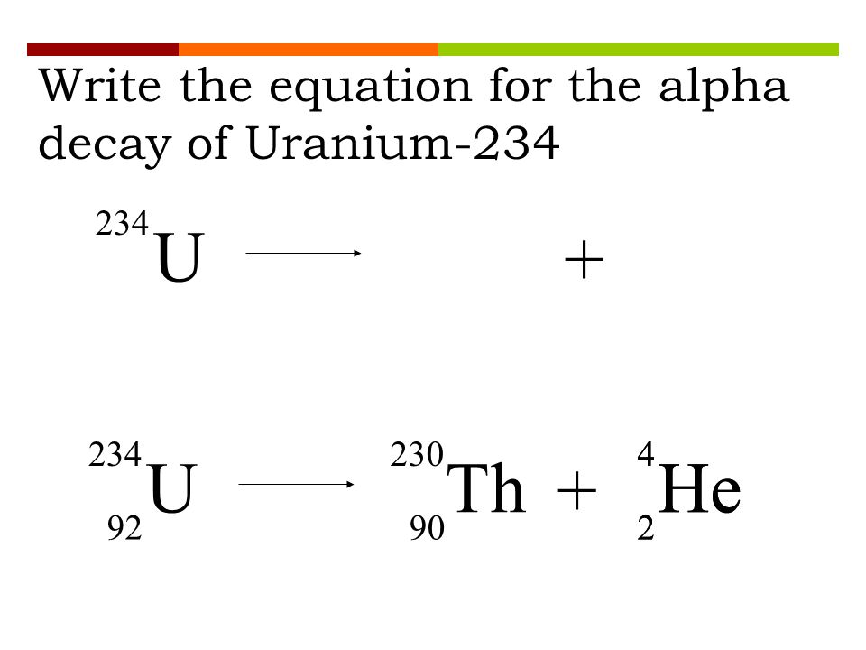 Nuclear Decay Equations Chemistry Tutorial
