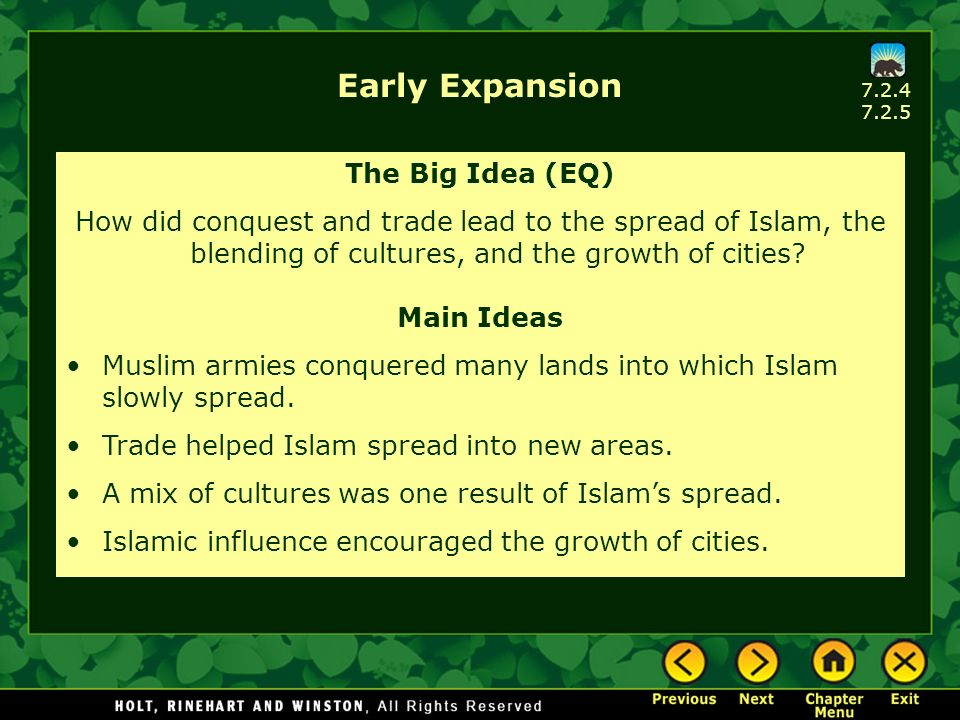 Early Expansion The Big Idea (EQ)