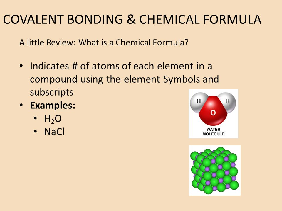 Chemical formula review