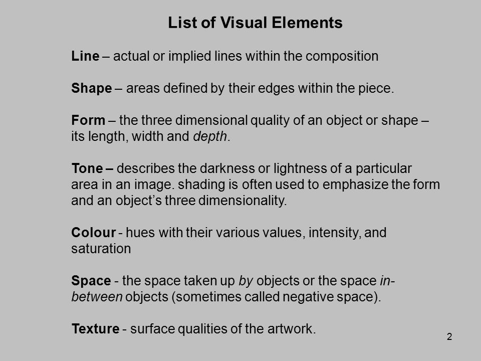 Visual Elements Line : Composition the visual elements ppt video online download