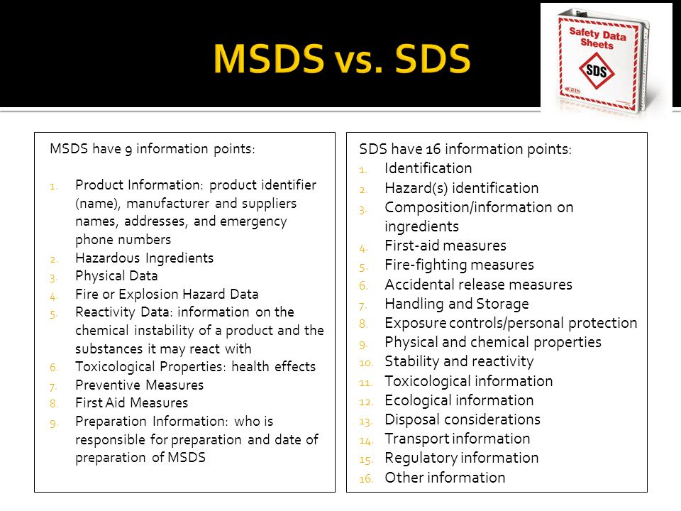 how to find msds number