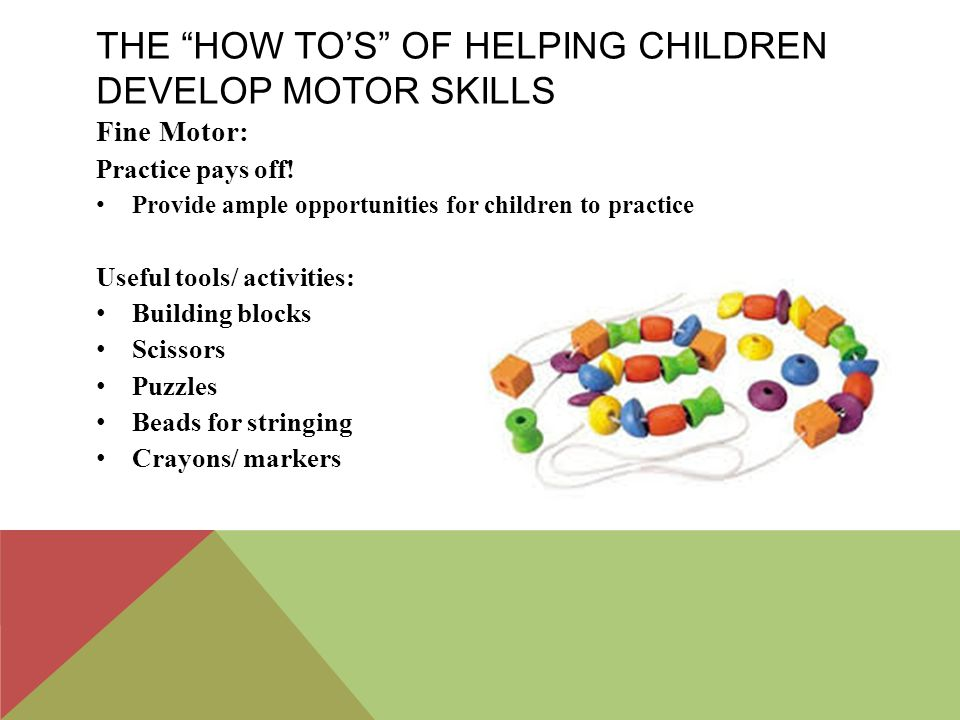 Motor Skills Development Ppt Download