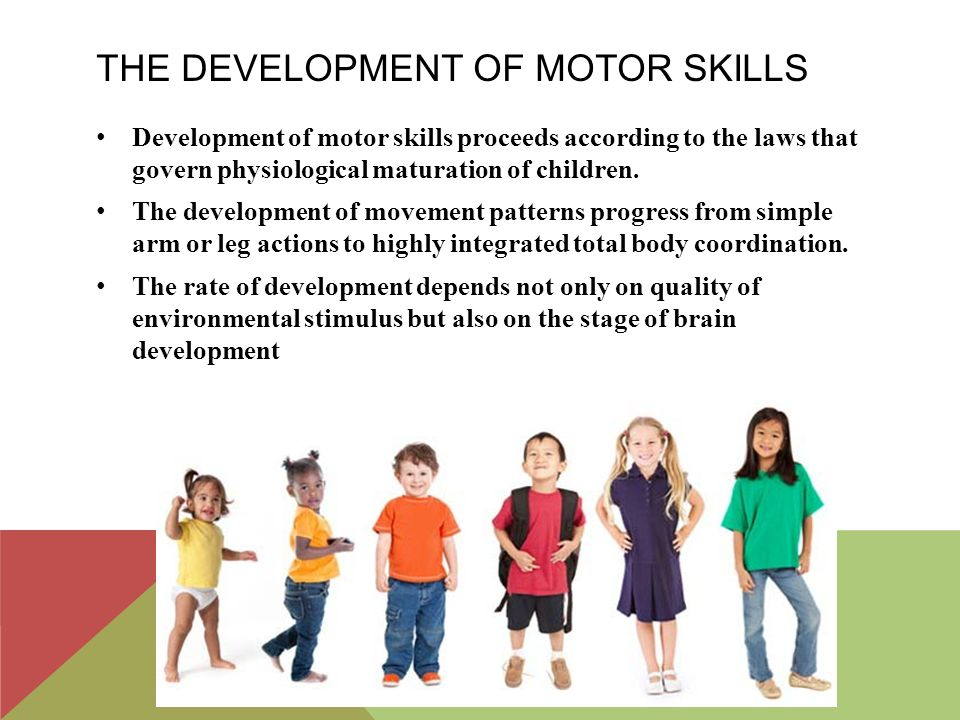 What are the six motor milestones and their typical for Development of motor skills