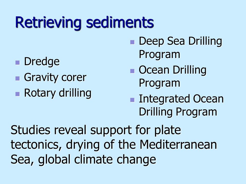 deep sea drilling project Scientific deep-ocean drilling: revealing the earth's secrets tim brewer university of leicester  of the deep sea drilling project, joint oceanographic.
