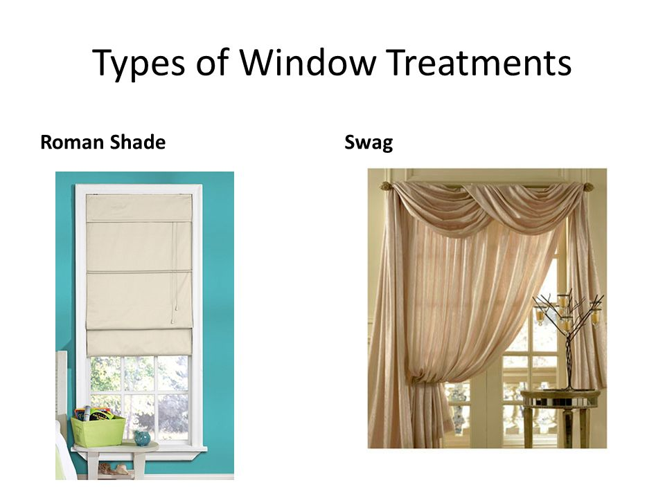 Windows window treatments ppt video online download for Types of window coverings