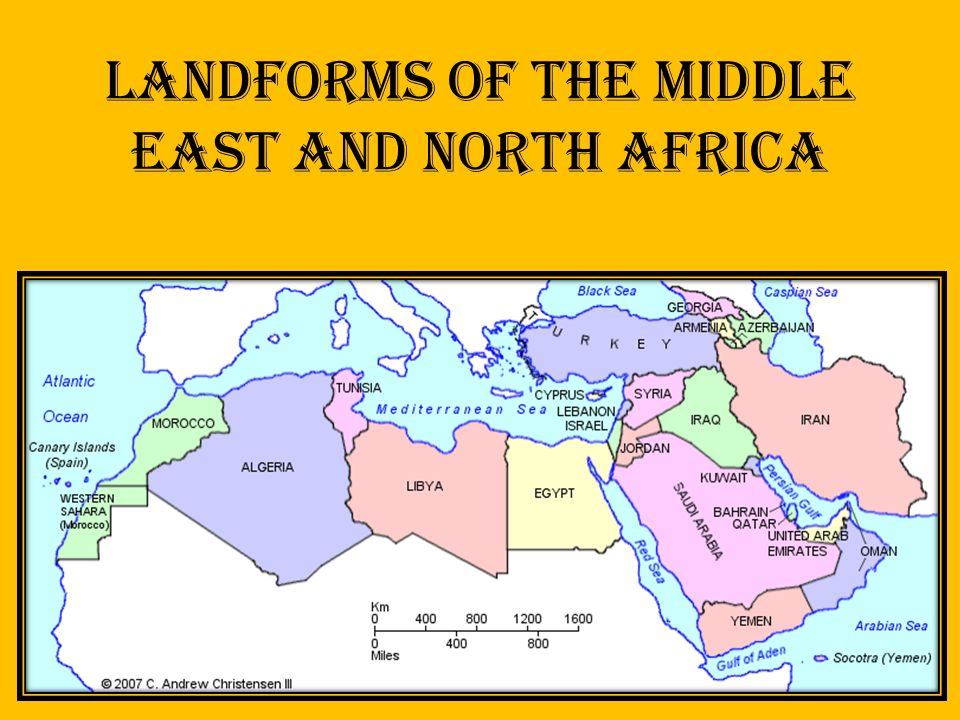 Landforms of The Middle East and North Africa  ppt video online