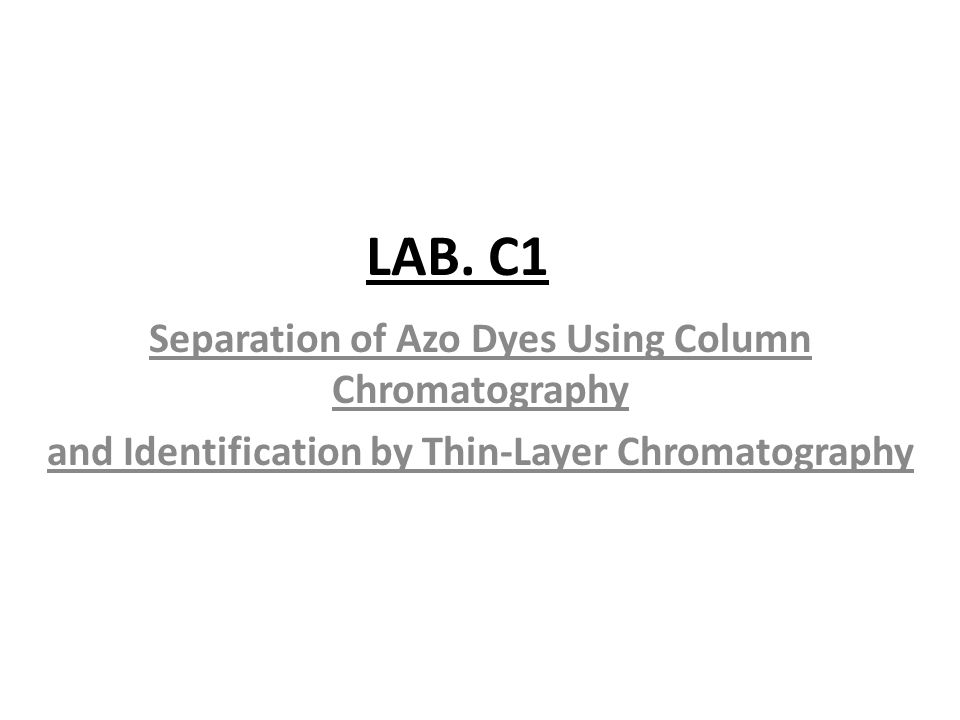 experiment c identification and separation of Separation and purification of products from in this experiment, a the acidic, basic and neutral compounds present in.